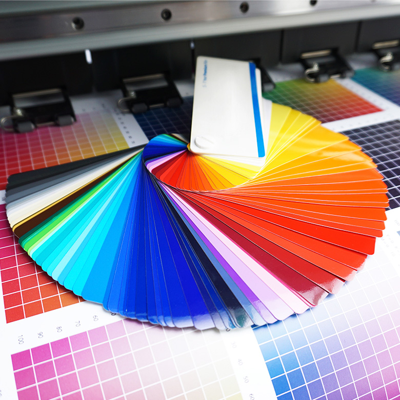 Farbfächer und Druckausgabe